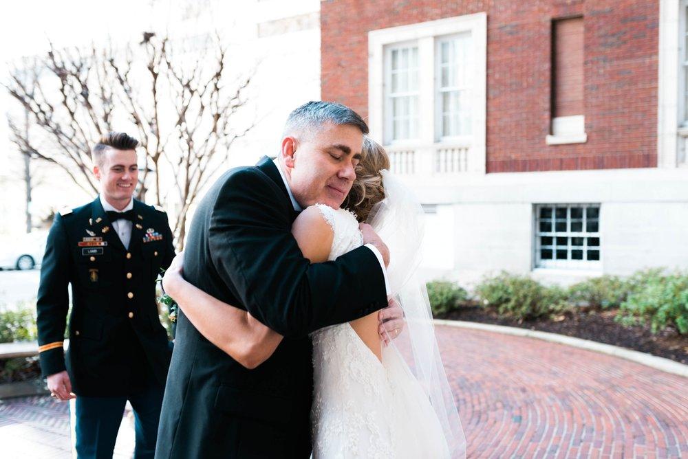 BRIDE FIRST LOOK WITH DAD | MATT & MEGAN | CAREY WEDDING | B&A WAREHOUSE | ST. FRANCIS XAVIER