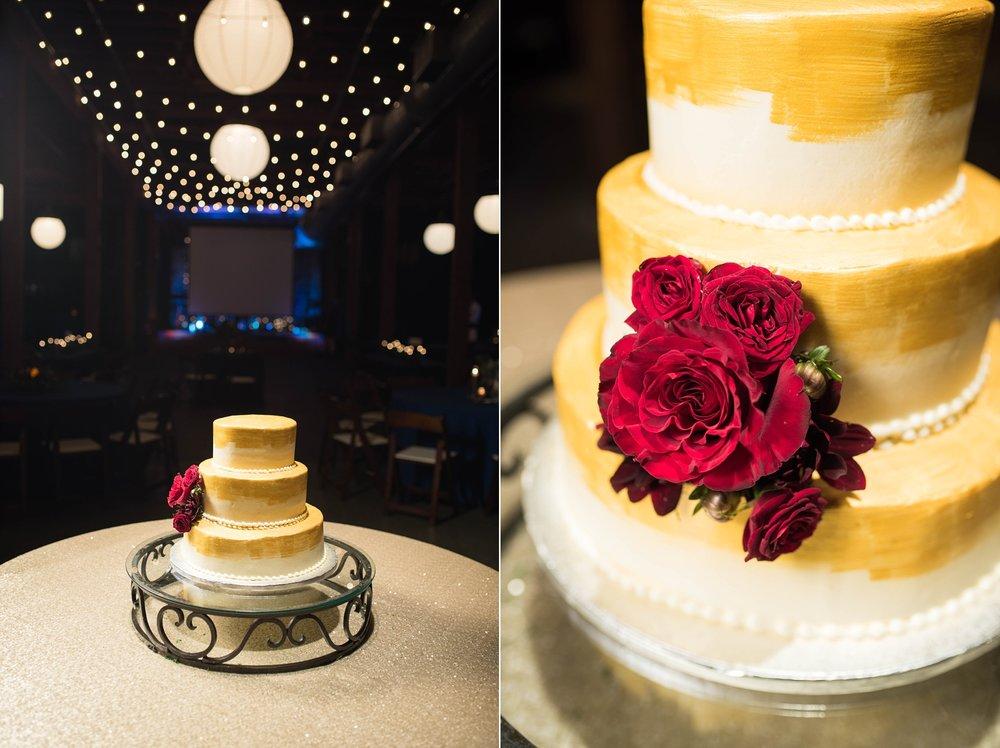 YELLOW WEDDING CAKE | MATT & MEGAN | CAREY WEDDING | B&A WAREHOUSE | ST. FRANCIS XAVIER