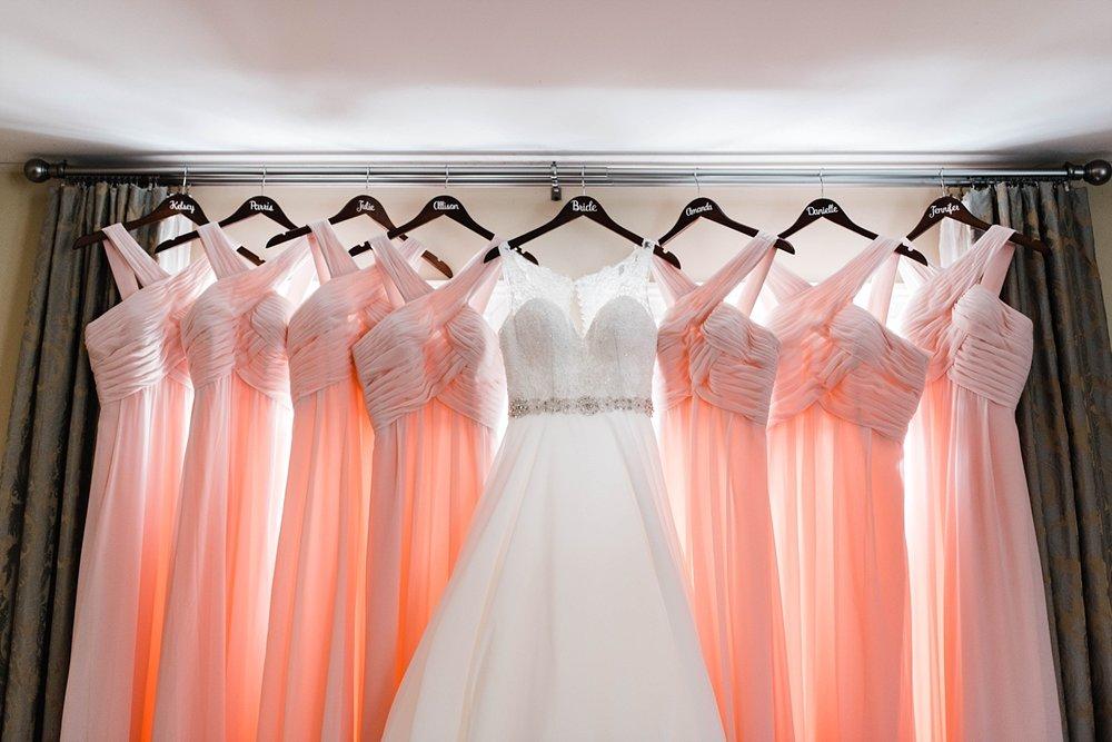 WEDDING DRESS & BRIDESMAIDS DRESSES | BRIDAL DETAILS | ELEGANT SPRING WEDDING AT THE SONNET HOUSE | TJ & SHELBY | JOHNSON WEDDING