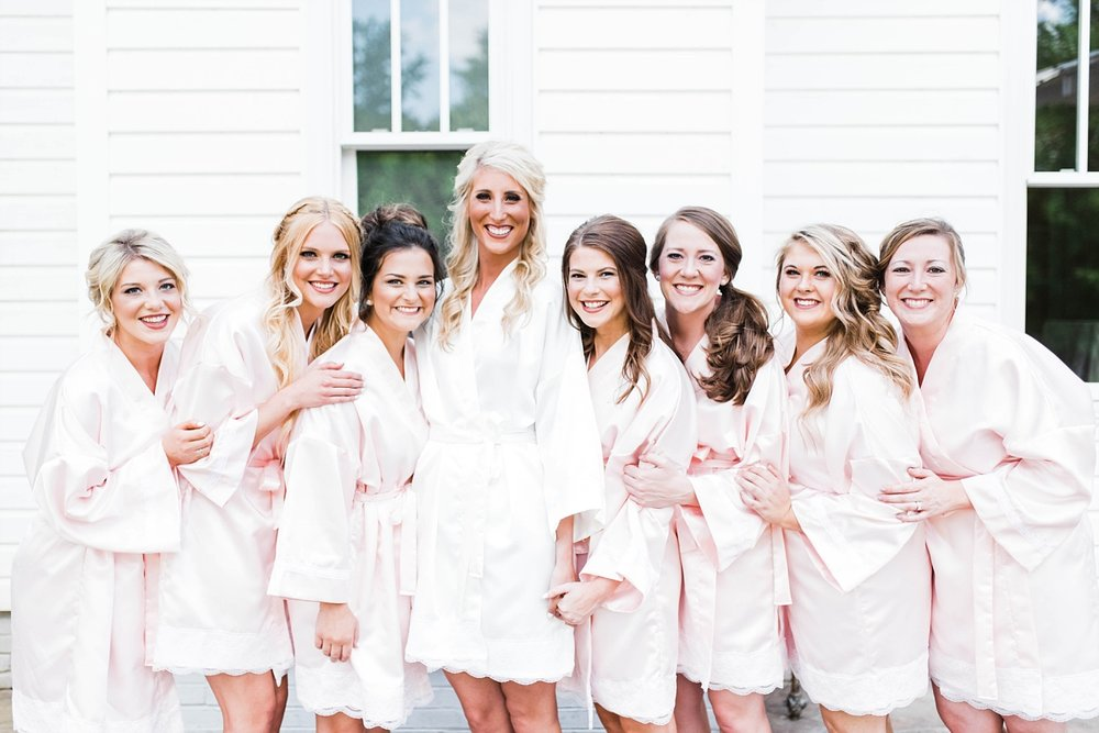 BRIDESMAIDS ROBES | BRIDE WITH BRIDESMAIDS | ELEGANT SPRING WEDDING AT THE SONNET HOUSE | TJ & SHELBY | JOHNSON WEDDING