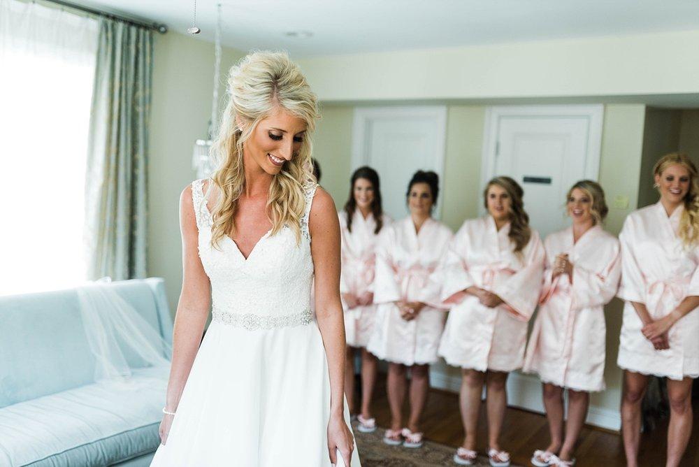 BRIDESMAID'S REACTION| ELEGANT SPRING WEDDING AT THE SONNET HOUSE | TJ & SHELBY | JOHNSON WEDDING