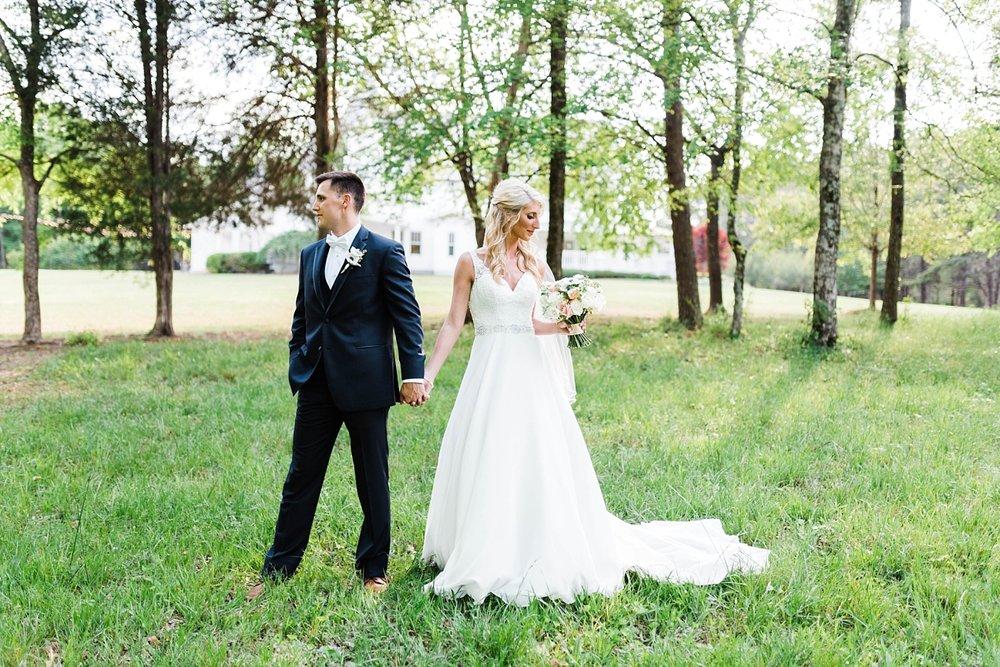 BRIDE & GROOM PORTRAITS | ELEGANT SPRING WEDDING AT THE SONNET HOUSE | TJ & SHELBY | JOHNSON WEDDING