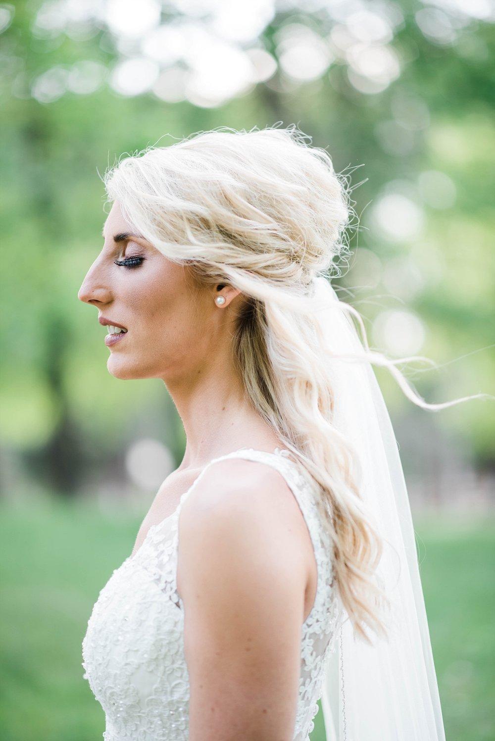 BRIDALPORTRAITS | BRIDE WITH VEIL| ELEGANT SPRING WEDDING AT THE SONNET HOUSE | TJ & SHELBY | JOHNSON WEDDING