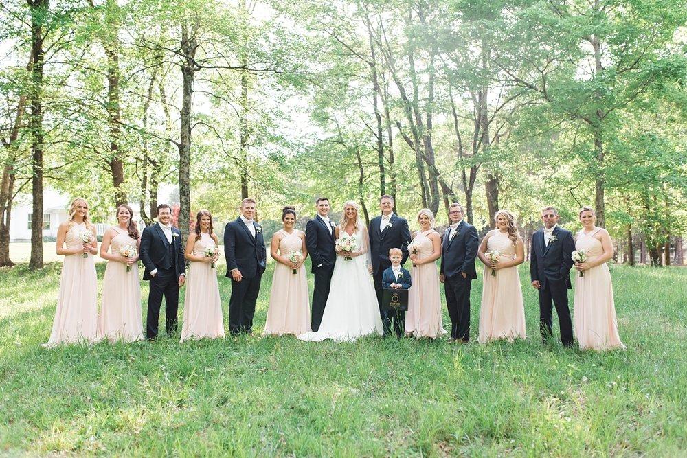 WEDDING PARTY| BLUSH & NAVY | ELEGANT SPRING WEDDING AT THE SONNET HOUSE | TJ & SHELBY | JOHNSON WEDDING