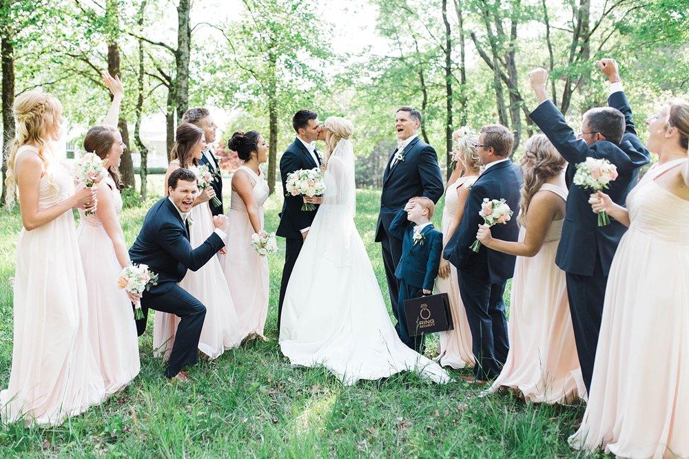 WEDDING PARTY| BLUSH & NAVY| ELEGANT SPRING WEDDING AT THE SONNET HOUSE | TJ & SHELBY | JOHNSON WEDDING