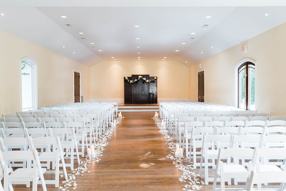 INDOOR CHAPEL| BLUSH & NAVY | ELEGANT SPRING WEDDING AT THE SONNET HOUSE | TJ & SHELBY | JOHNSON WEDDING