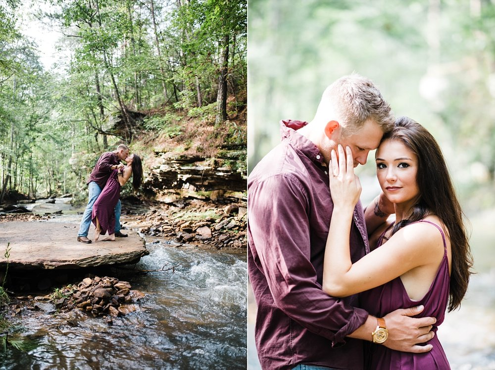 A SUNRISE ENGAGEMENT SESSION IN ALABAMA | BRANDON & BROOKE | IN A CREEK