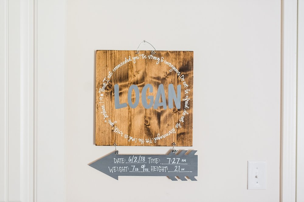 SEABROOK FAMILY | NEWBORN LIFESTYLE SESSION | Baby boy | nursery decor for boy
