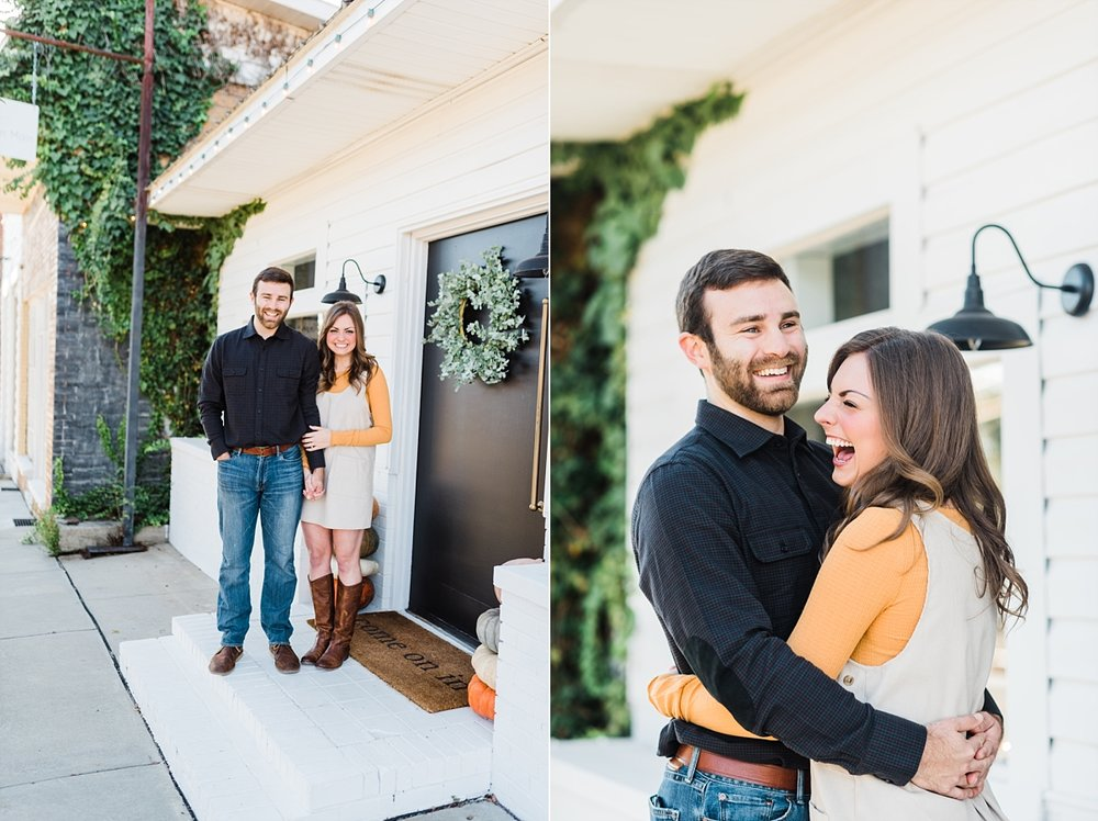 ADDISON AND LAUREN | FALL ENGAGEMENT SESSION | SPRINGVILLE, AL | CLOTH ON MAIN | LAURA WILKERSON PHOTOGRAPHY