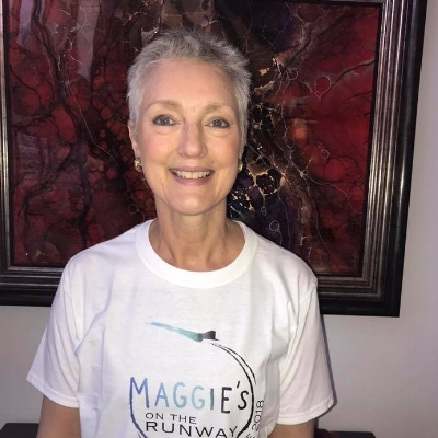 JANE TAYLOR - Jane attended Maggie's on the Runway as a guest in 2016 and was amazed at the wonderful work that the Maggie's Centres do to support cancer patients and their families.  A couple of months later, Jane herself was diagnosed with breast cancer and she started her own cancer journey.