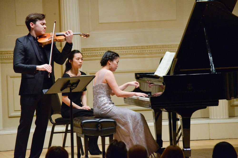 June Wu performs Franck sonata with violinist Benjamin Beilman at the 2015 New York Piano Society Annual Gala at Carnegie Hall's Weill Recital Hall.