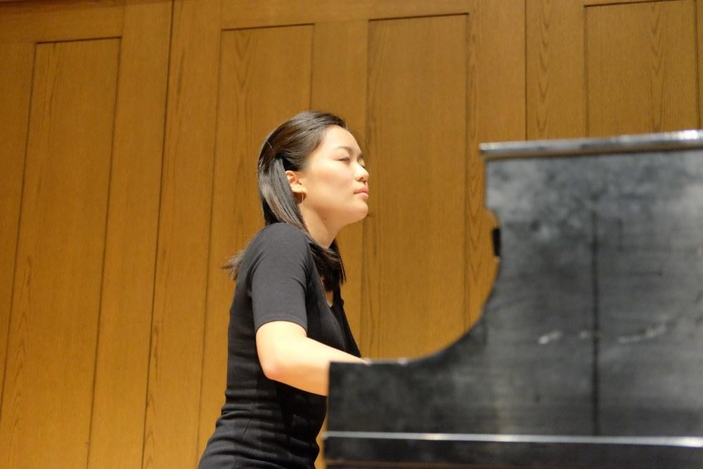 June Wu in performance at Rose Recital Hall, University of Pennsylvania.