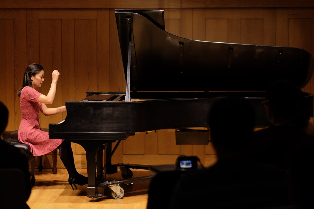 June performs works by Liszt, Schubert, and Beethoven in Rose Recital Hall at the University of Pennsylvania.