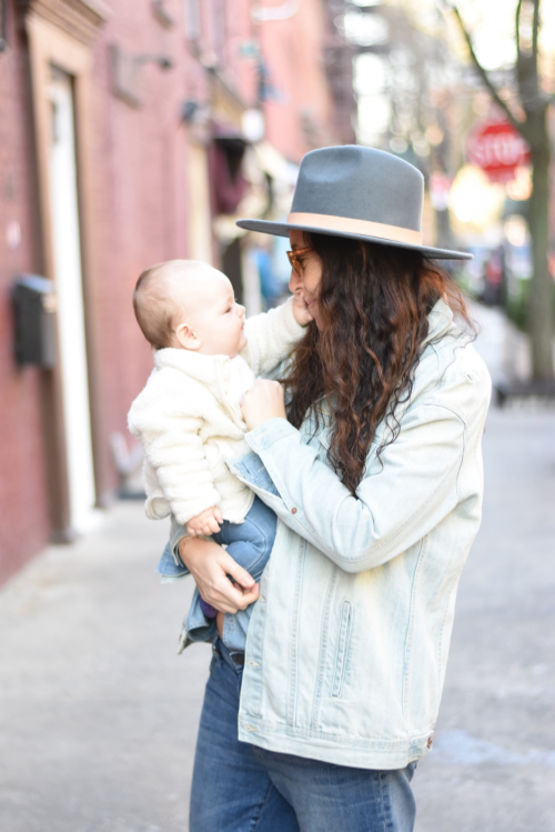 Jenny Greenstein. Personal Stylist/ Blogger/ Mama. (Pictured with daughter, Vida)  www.yoursoulstyle.com