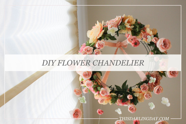 Flower chandelier this darling day aloadofball Image collections