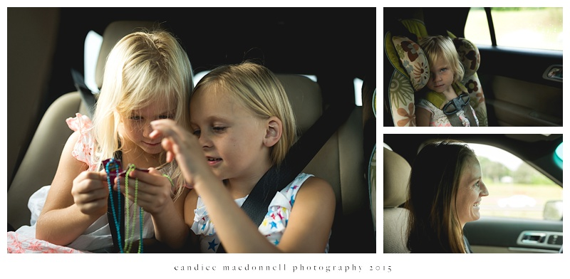 kids in the car © candice macdonnell photography