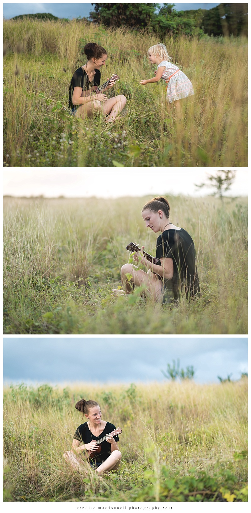 playing ukulele in the field © candice macdonnell photography