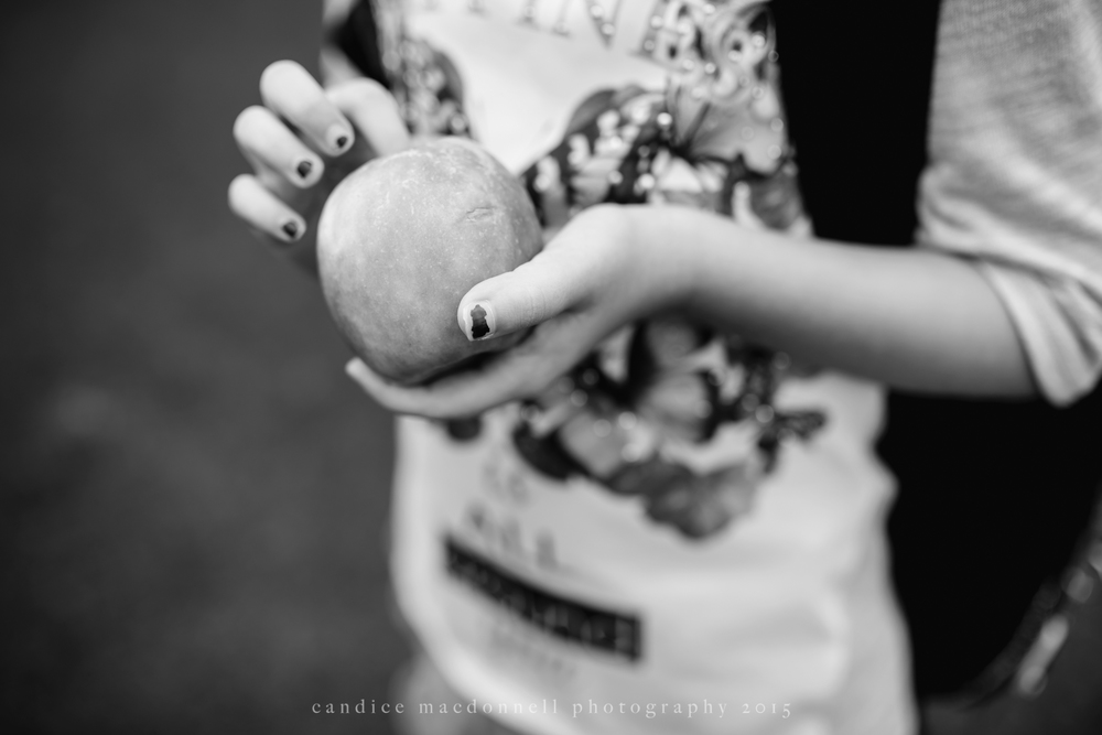 chipped nail polish holding apple © candice macdonnell 2015