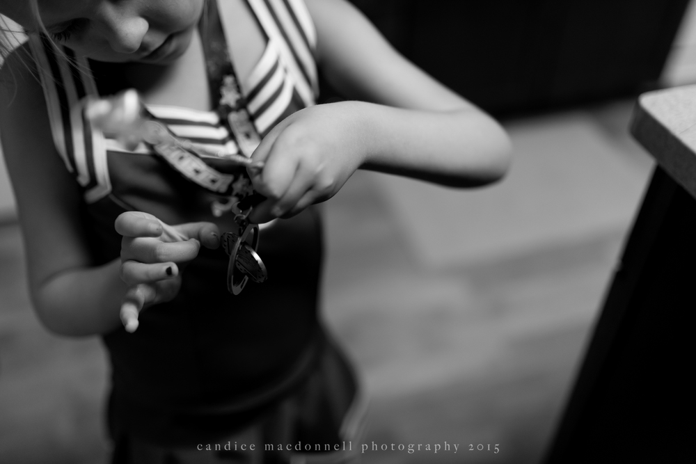 little cheerleader black and white © candice macdonnell 2015