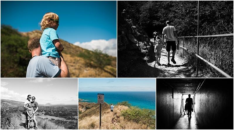hiking diamond head honolulu lifestyle family photographer