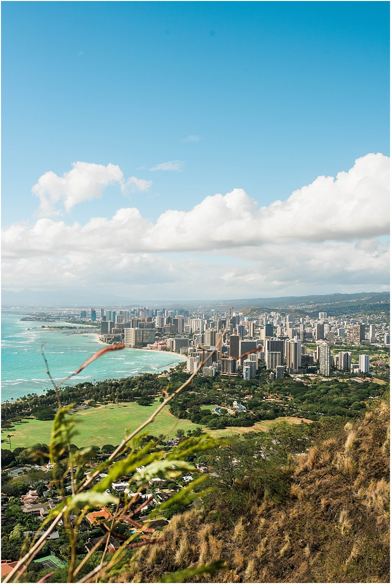 view from diamond head hike honolulu lifestyle family photographer