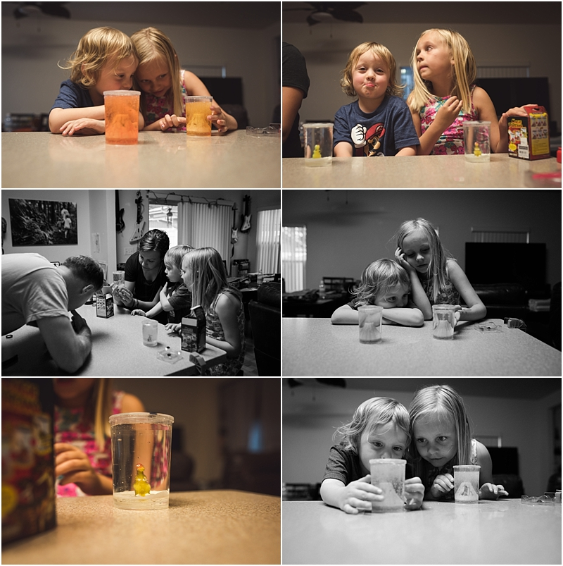children doing science experiment lifestyle family photographer