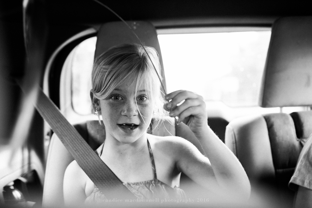 car ride cute girl lifestyle photography by candice macdonnell photography, oahu hawaii documentary photographer