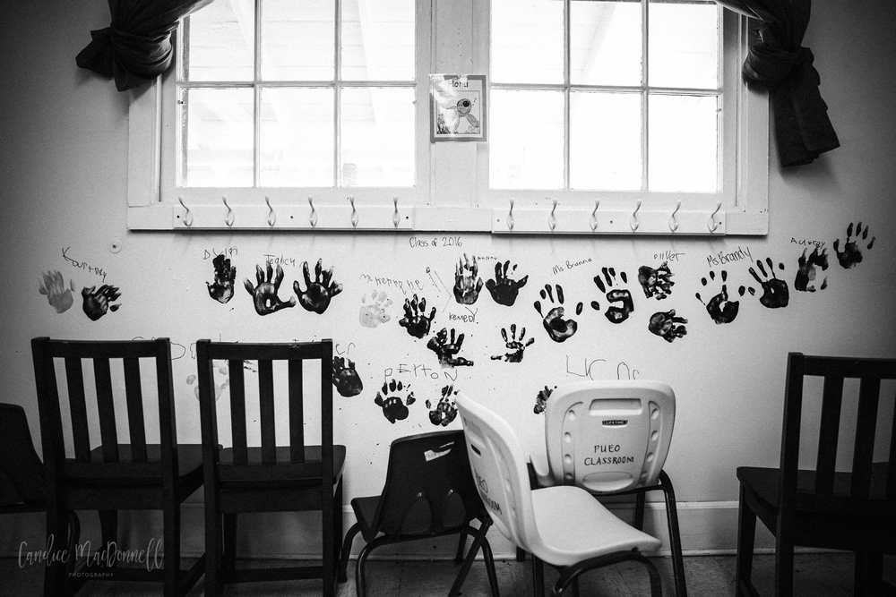 kid handprints on wall at school lifestyle family photography oahu hawaii