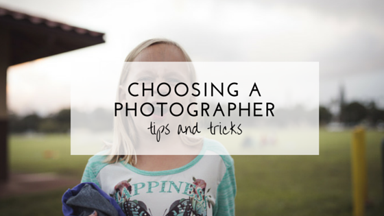 how to choose a photographer