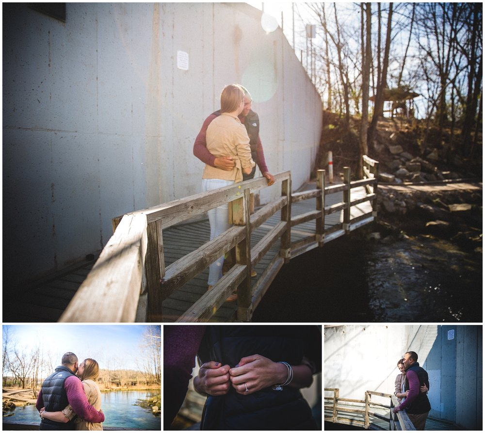 surprise engagement photography in waynesville MO