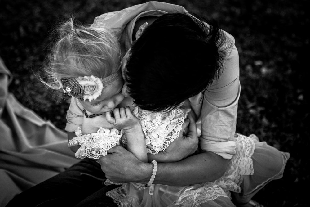 mother and child hugging lifestyle documentary photography