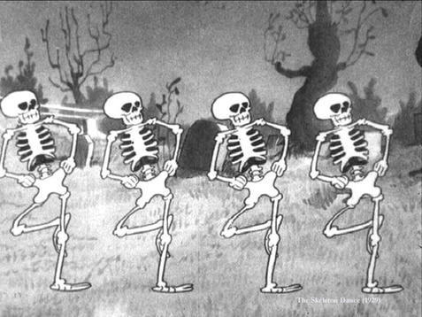 Spooky Scary Skeletons photo October music playlist