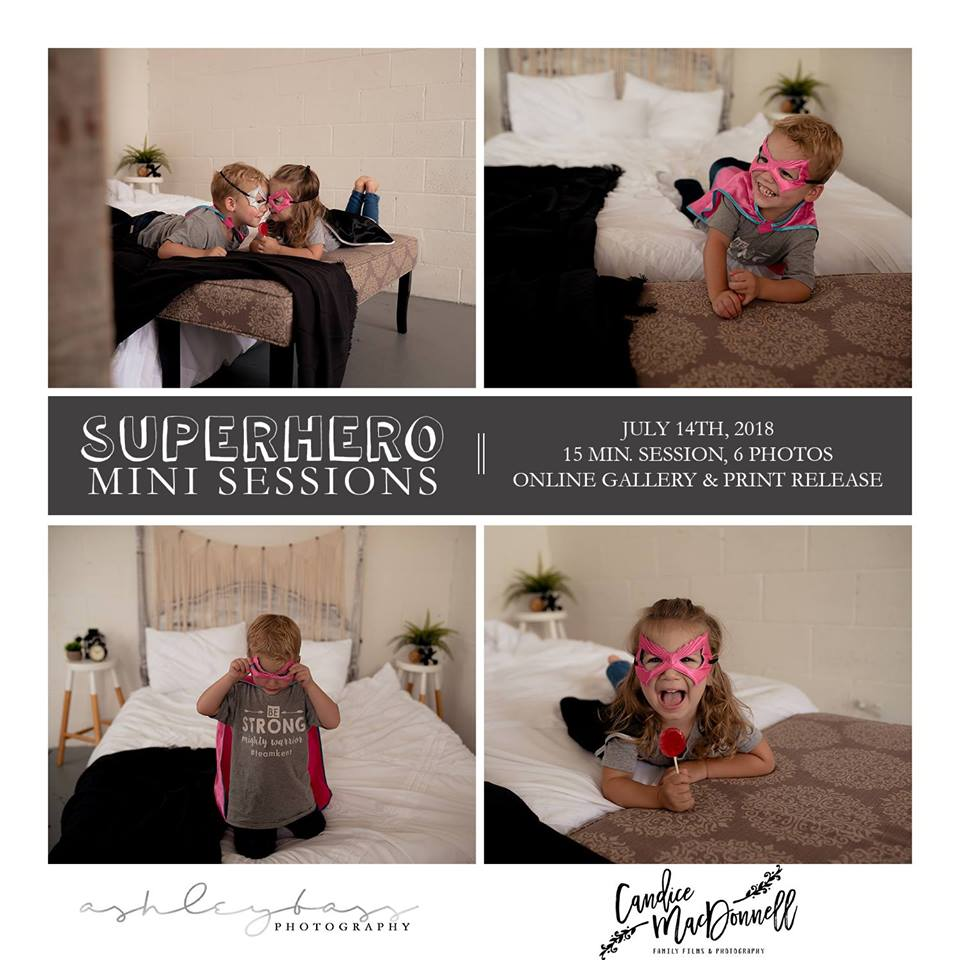 super hero mini sessions - kindness for kent
