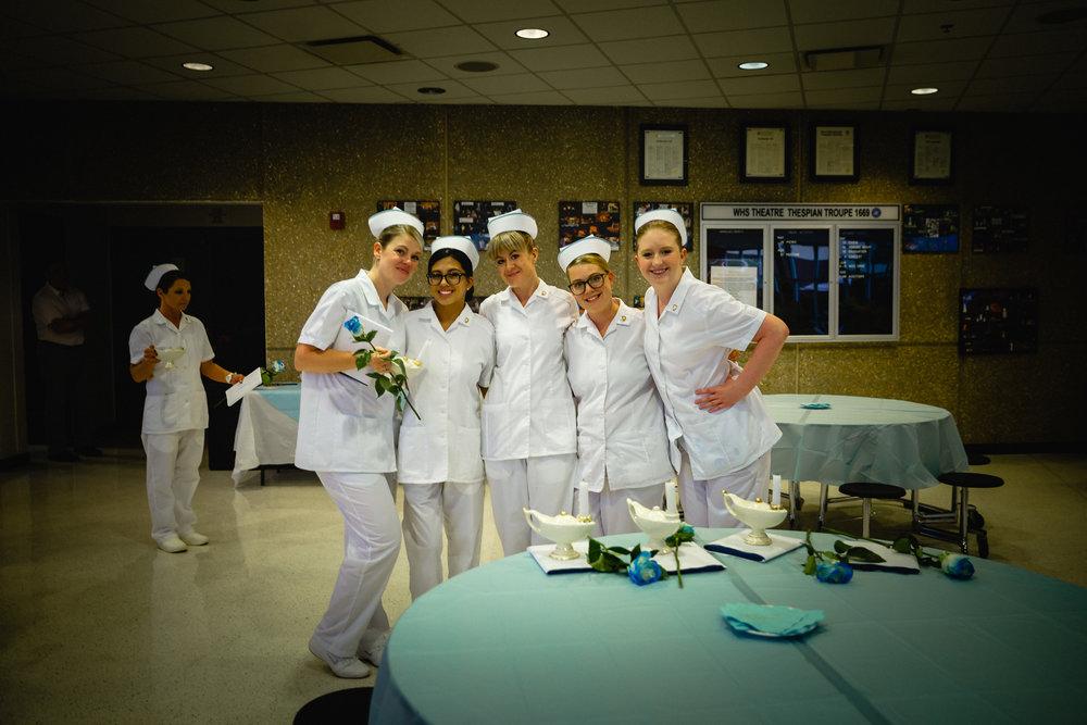 friends pose at nursing graduation waynesville photographer