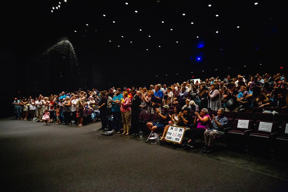 crowd at waynesville lpn graduation go wild event photographer