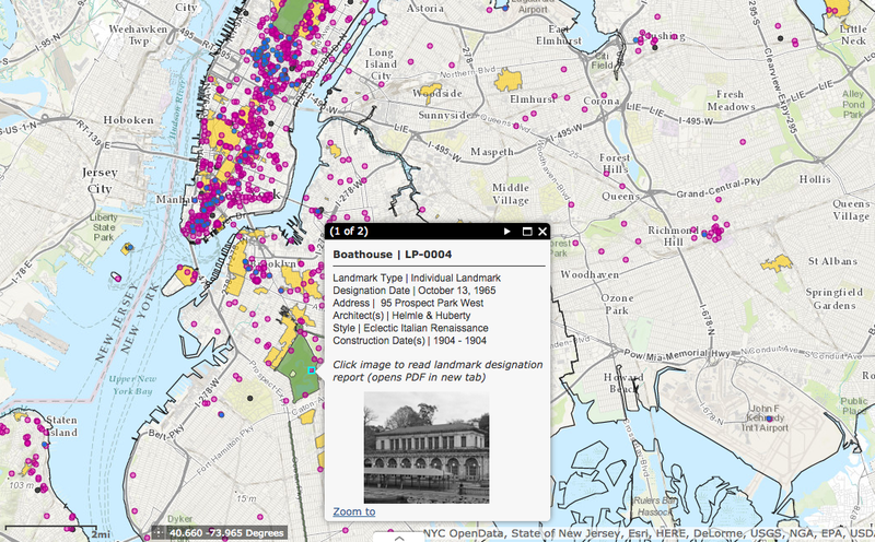 Mapping NYC's Landmarks