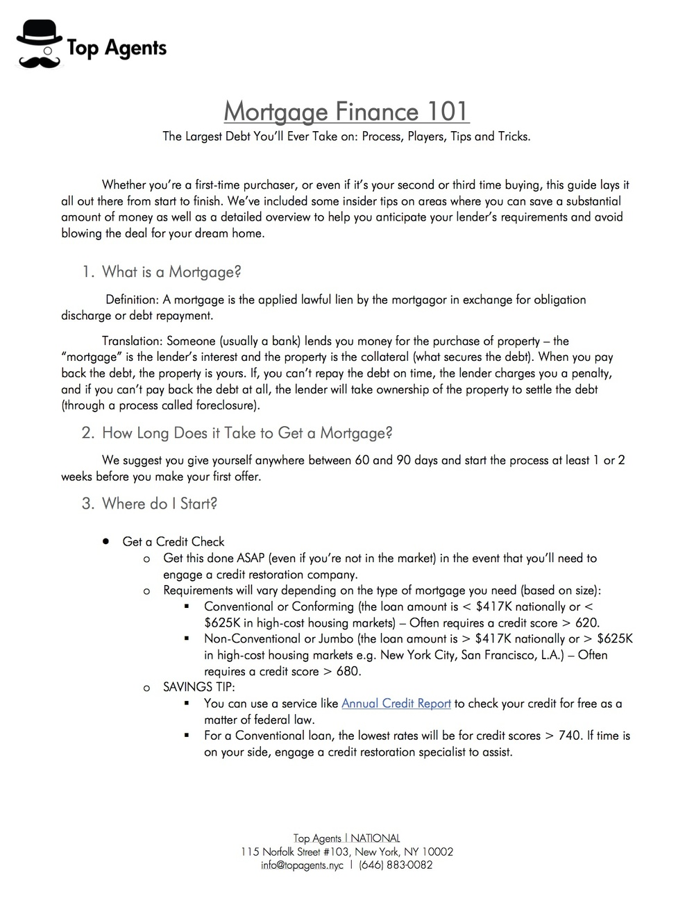 Mortgage Finance 101