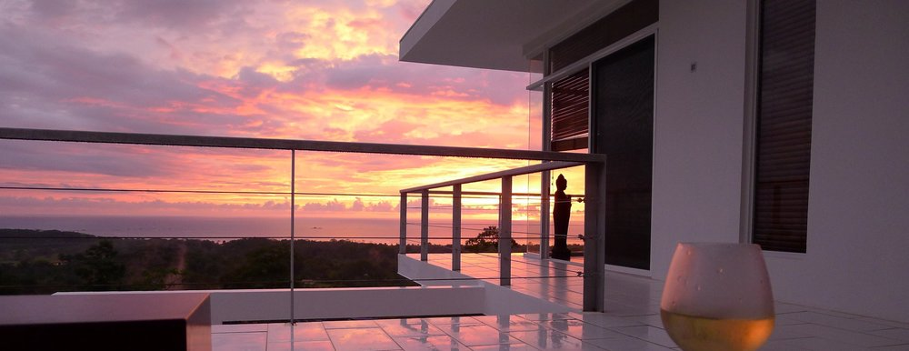 Enjoy perfect sunsets over the Pacific.
