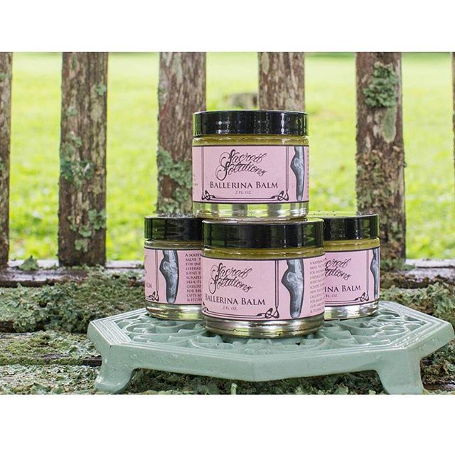 Happy World Ballet Day! 💗💖🕯🎭🌎💗💖💫💥💗In honor of ballerinas everywhere !!!! Sacred Solutions is offering a SALE on our NEW healing salve Ballerina Balm! $15 for our 2oz jar and $4 for .5oz tins!  Relieve those tired and aching muscles, fatigue, bruising,  joint pain and inflammation....This soothing blend of chamomile,  arnica, chickweed,  and more soothes skin with a light floral scent! A must have for dancers! Great for cuts, abrasions, and sunburn, and use all over the body. Great massage Salve! Use coupon code: BALLERINA to take advantage of this one day only sale!! #dancelife #prestretch #soremuscles #inflammation #bruising #handmade #withlove #hardwork #organic #dancerapproved #painrelief #salve #sacredsolutionsskincare #chamomile #arnica #oliveoil #ballerinaday #ballerina #ballerinafeet #ballerinalife #etsysale #etsyshop #etsyseller #etsyfinds #etsystore #sale #dancer #dancing