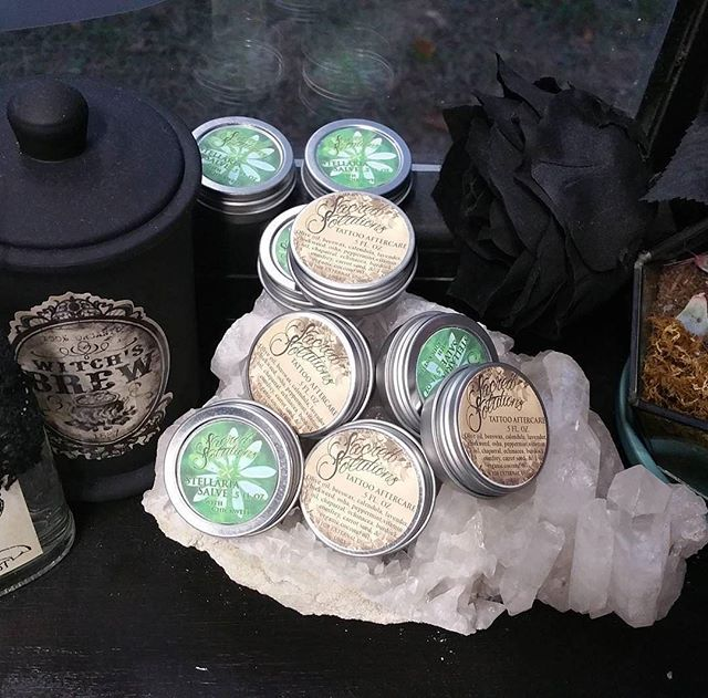New batches of Natural Tattoo Aftercare & Stellaria Salve in half oz sizes 🌼🌿🍃🌱🌿🌸 sacredsolutionsskincare.com #sacredsolutions #tattooaftercare #tattoohealing #tattoos #inked #inkedwomen #sacredsolutions #inkedmen #stellariasalve #inkhealing #handmade #withlove #hardwork #etsyshop #chickweedsalve #lavendersalve #sacredsolutions #etsystore #etsyfinds #etsyshop #stellaria #organic #organicskincare