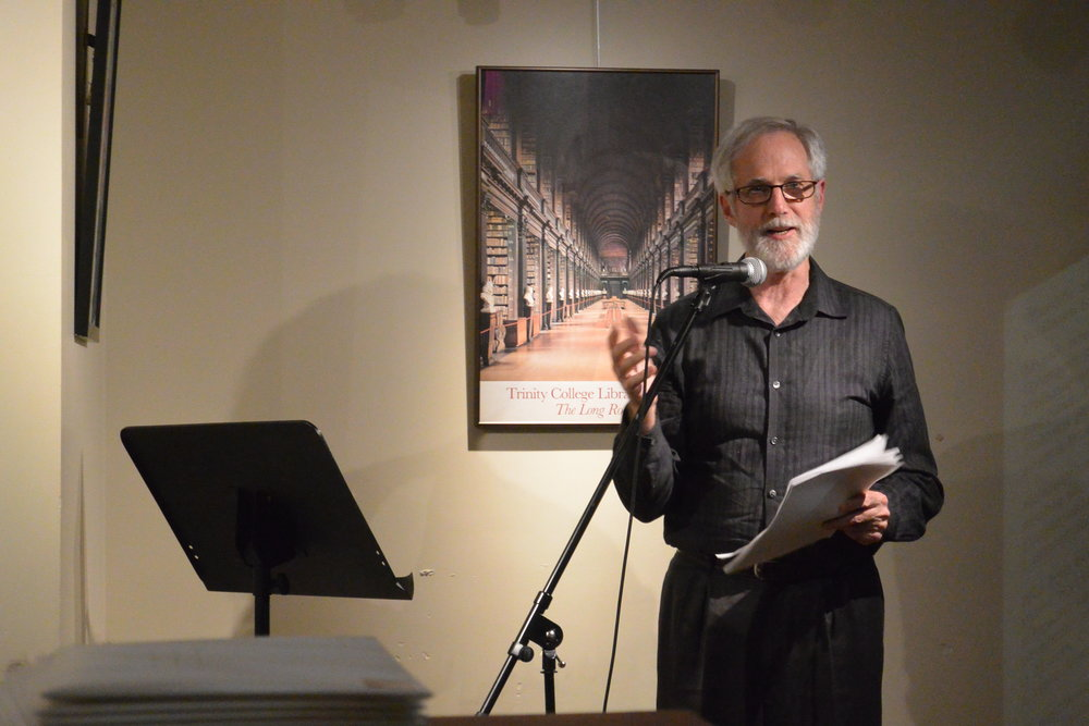 Reed Bye at Innisfree Poetry Bookstore & Café (Photo by Indigo Deany)