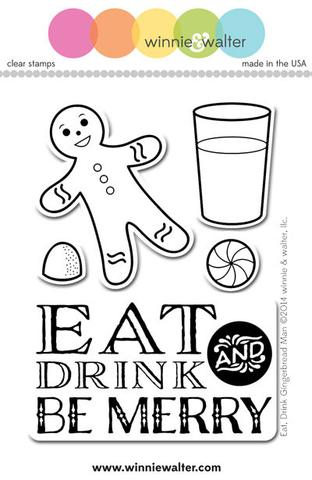 w&w - Eat Drink Gingerbread Man - clear stamp