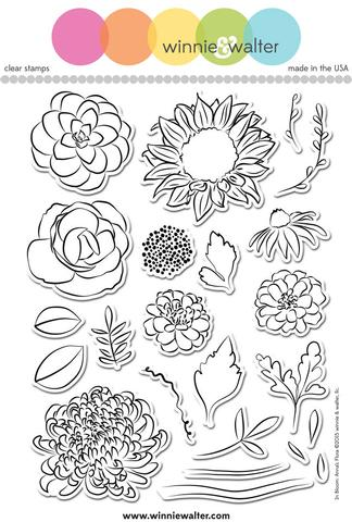 w&w - In Bloom: Anna's Flora - clear stamp