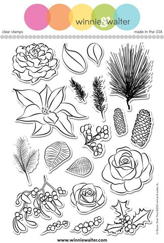 w&w - In Bloom: Elsa's Flora - clear stamp