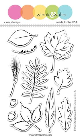 w&w - In Bloom: Renee's Leaves - clear stamp