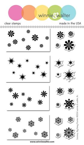 w&w - Scenery: Big Bang Flurries - clear stamp