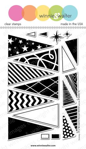 w&w - Scenery: It's a Wonderful Pennant - clear stamp