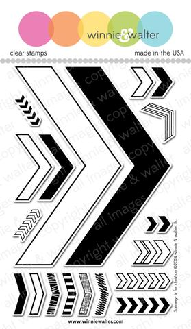 w&w - Scenery: V for cheVron - clear stamp