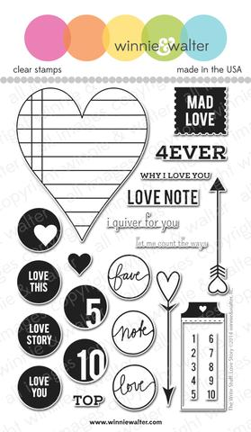 w&w - The Write Stuff: Love Story - clear stamp