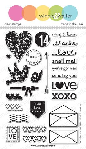 w&w - You've Got Love Mail - clear stamp